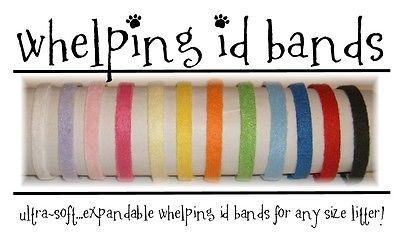 ID Bands Whelping Collars Puppy Kitten 16 Colors PUPPY KITTEN LITTER Fleece NEW