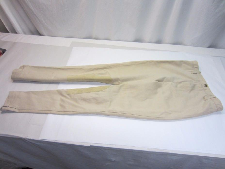 Gently Used State Line Tack English Riding or Show  Breeches Size 30 Long