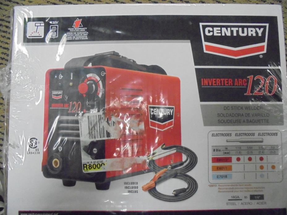 Century Inverter Arc 120 DC Stick Welder BRAND NEW