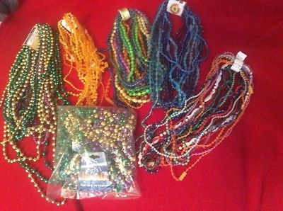 72 Mardi Gras Beads St Patricks Day Green Necklaces 6 Dozen Lot Party Leprechaun