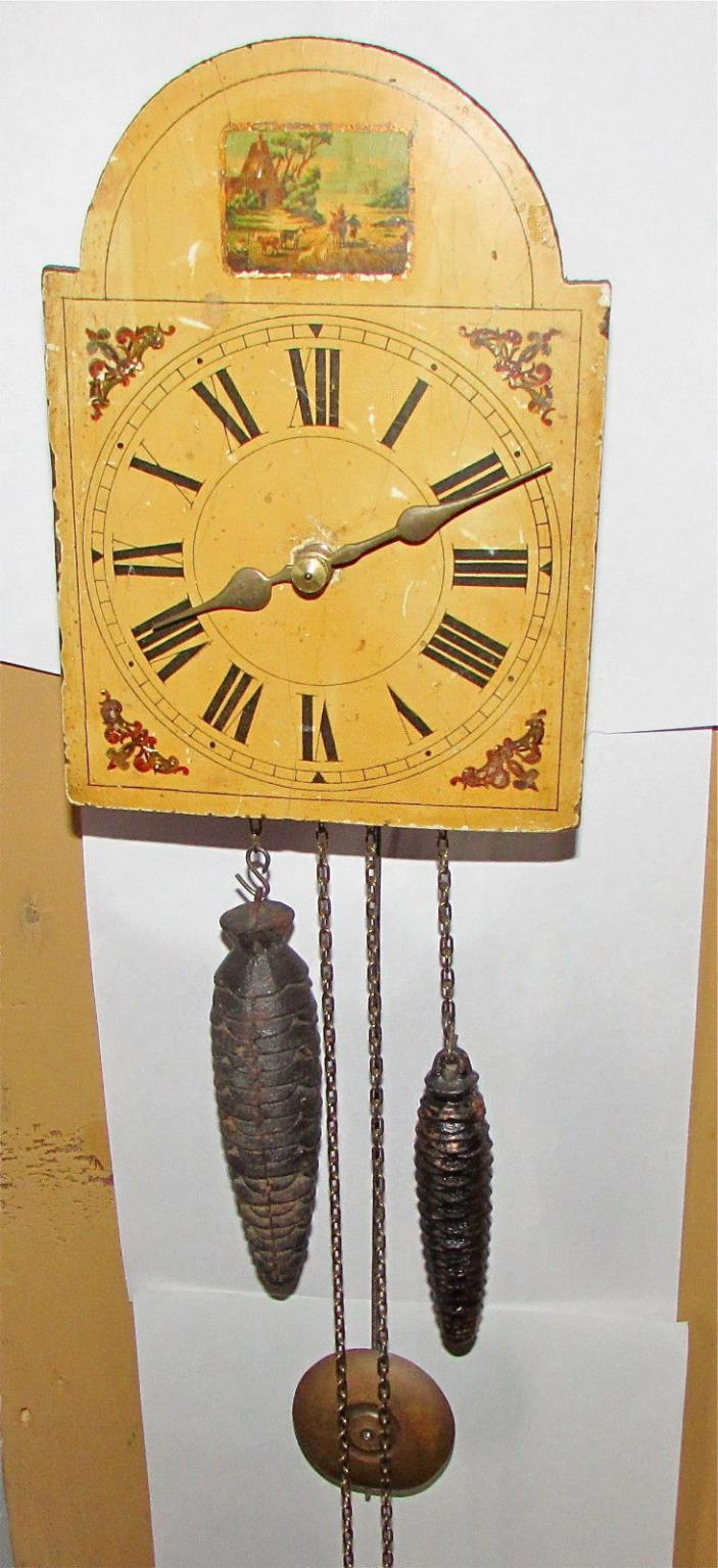 Small Antique wag on the wall clock