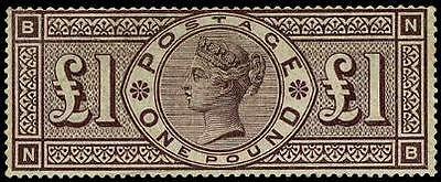 HERRICKSTAMP GREAT BRITAIN Sc.# 123 Rare LH, Scott $75,000