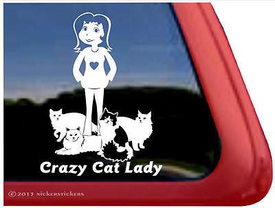 Crazy Cat Lady | High Quality Vinyl Kitten Cat Window Decal