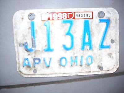 Antique Ohio Motorcycle License Plate