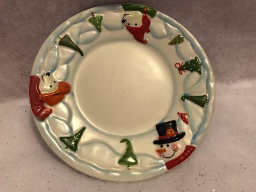 Yankee Candle Plate North Pole Snowman Polar Bear 3D