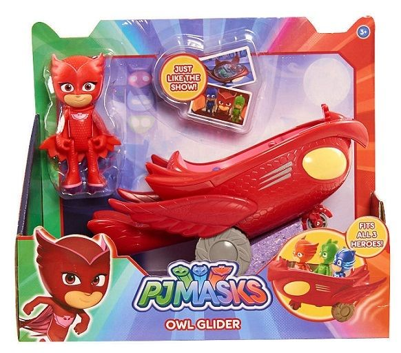 Disney PJ MASKS RED Owlette and Owl Glider figure & vehicle NEW IN HAND!!!