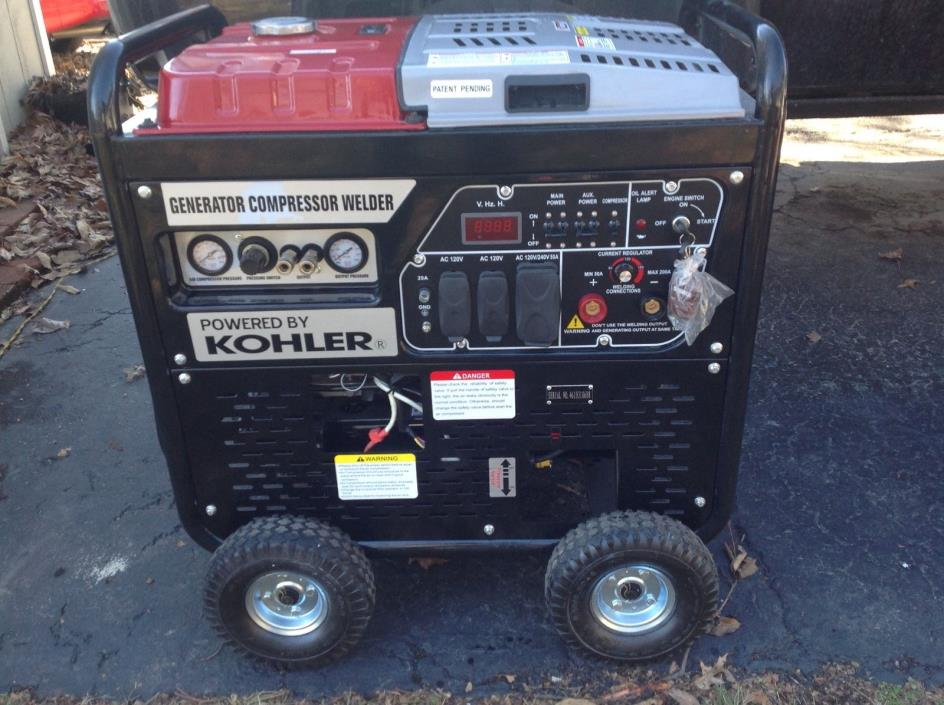 Kohler Generator/welder/Air Compressor