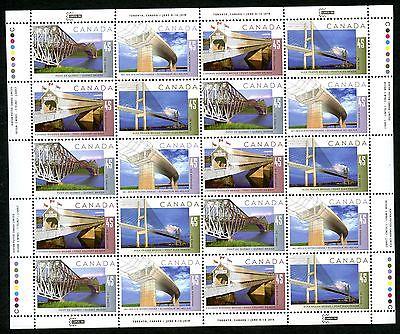 LOT 57239 MINT NH 1573a SHEET : BRIDGES HARTLAND COVERED WOODEN BRIDGE