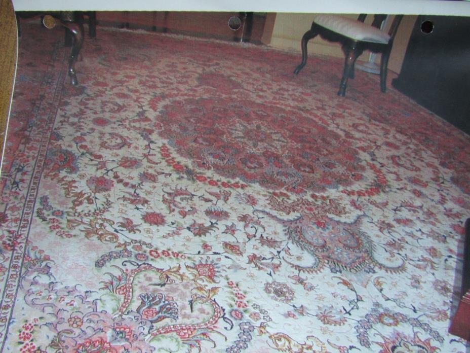 Rare Persian Tabriz Nache, Silk & Wool  Mint  10x 14  magnificent colors