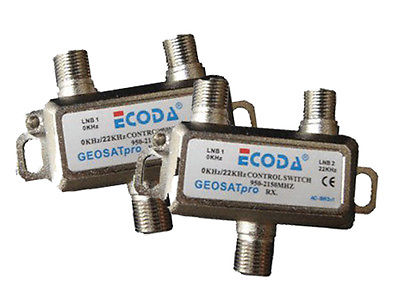 LOT of 2 PCS ECODA 2X1 22KHz Tone Control Switch 0/22KHz FTA GEOSATpro EC-2111