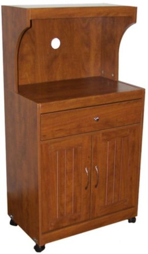 Microwave Cart Hazelwood Home With Storage Cabinet kitchen Doors Wood Stand