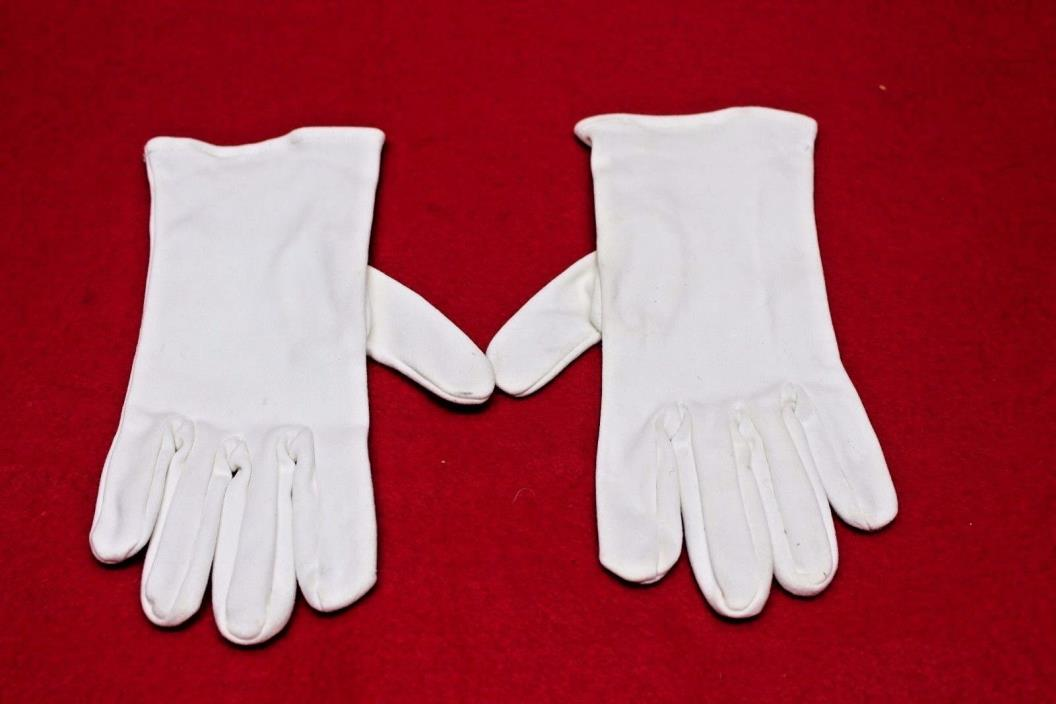 Vintage Men's White Cotton Dress Gloves