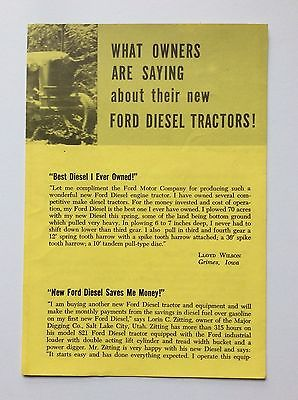 Original 801 DIESEL Ford Tractor Fold Out Brochure