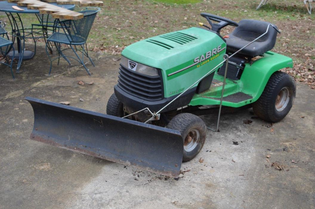 John Deere Sabre lawn tractor with Snow Plow