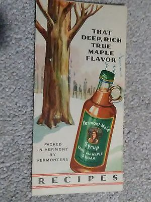 1929 VERMONT MAID Recipes Booklet