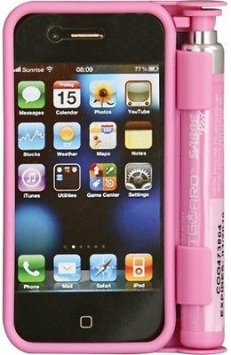 Sabre Red Smart Guard ORMD Pepper Spray/iPhone Case. Pink composition hardshell