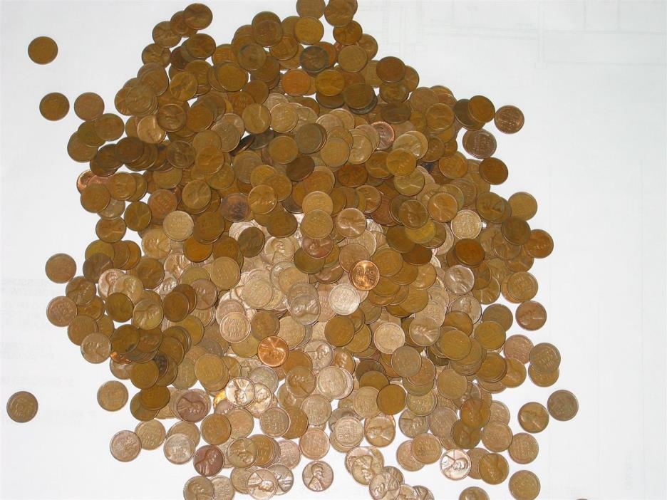 5 Pounds Lincoln Wheat Cents. 1940-1958