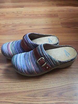 Dansko Women Size 38 7.5-8 Multi-Colored Mules Clogs Shoes