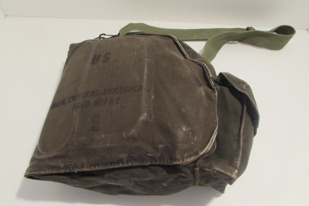 Vintage Vietnam War Era US Chemical Biological Field Gas Mask M17A2 Carrier Bag