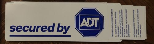 Security Sticker Yard Sign Reflective Cameras Alarm Video Surveillance CCTV