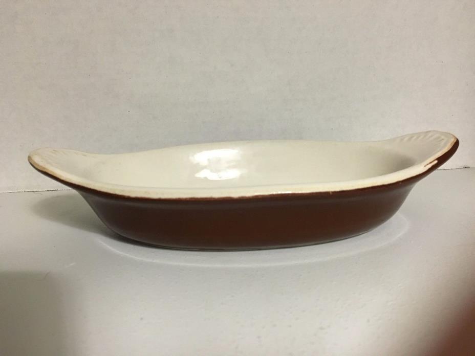 Hall Restaurant Ware Individual Brown Au Gratin Casserole Dish #527