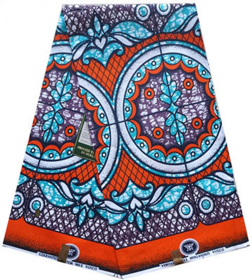 Dashiki  Authentic Ethnic African Hippie  Veritable Super Wax  6ds Print Fabric