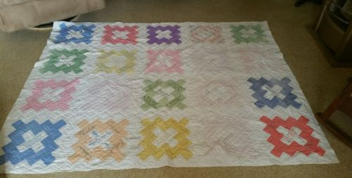 ???  Antique Friendship Quilt HAND Stitched HAND Quilted, HAND Embroidered