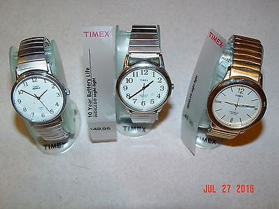 Men's Timex watches w/stretch bands - Indiglo (3)