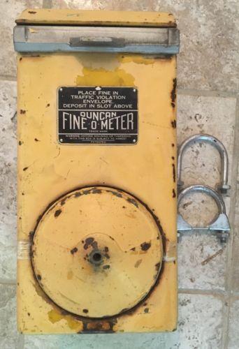 VINTAGE DUNCAN FINE-O-METER PARKING METER FINE BOX -FREE SHIPPING