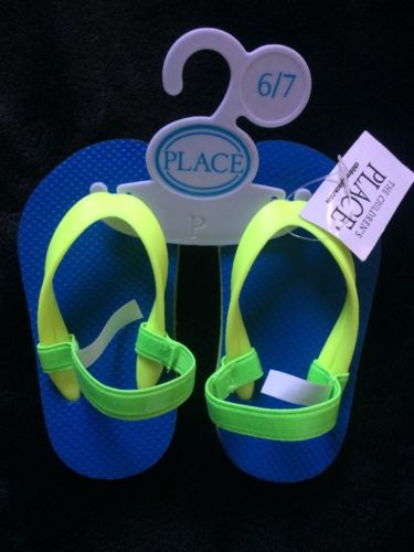 Children's Place Sandals Blue Toddler size 6-7 with Heel Strap
