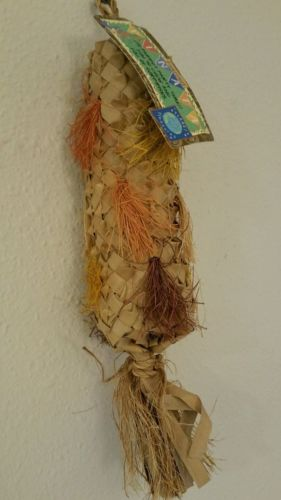 Large Parrot Toys woven palm leaf parrot pinata toy Lot #36