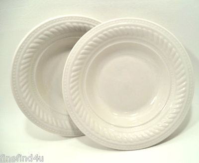 Gibson Housewares Designs BRAID CREAM Rope Dots China Set(s) of 2 Cereal Bowls f