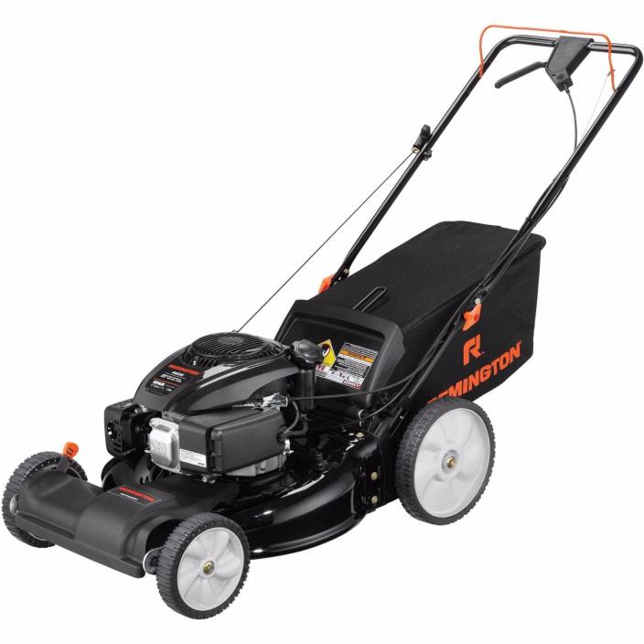 "Self Propelled Lawn Mower Gas 21"" Front Wheel Drive Remington Yard Push Grass"