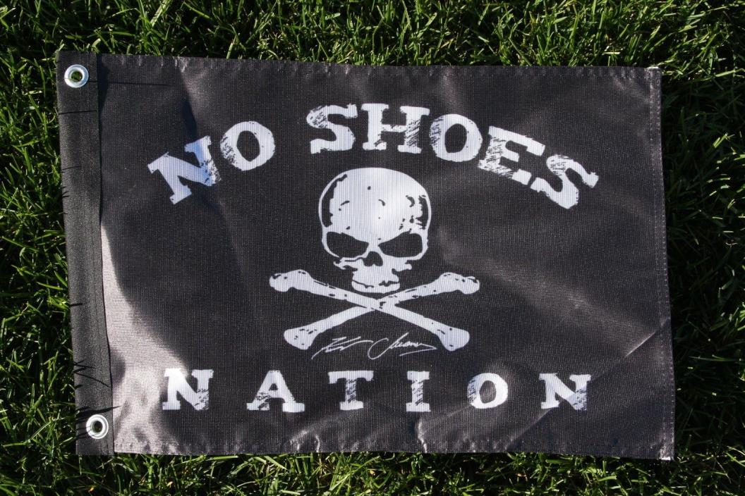 PIRATE FLAG  No shoes nation 13x19 in Boat/ truck  size   Kenny Chesney FANS