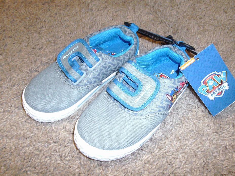 Paw Patrol Boys Toddler Gray & Blue Slip on Shoes Size 12
