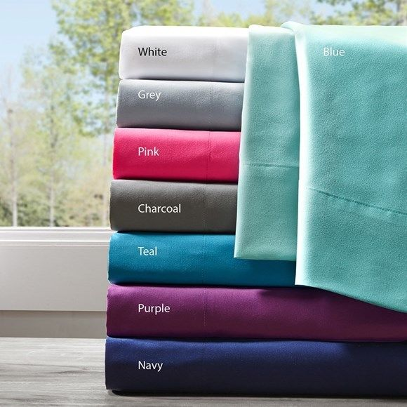 Microfiber QUEEN Sheet Sets - Aqua Blue, Grey, White, Pink, Purple