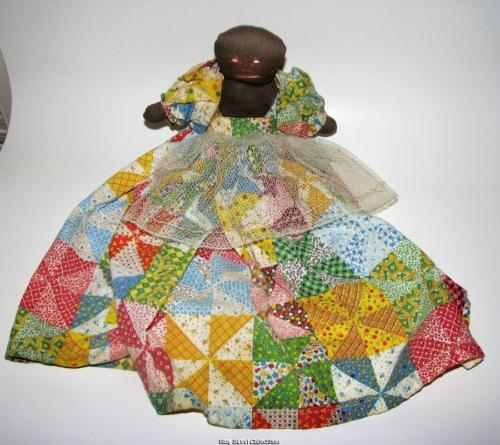 Vintage Handmade Black Americana Cloth Doll Primitive Kitchen Toaster Cover