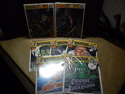 Universal Monsters Puzzle Lot of 2 and Lot of 5 Iron on Transfers