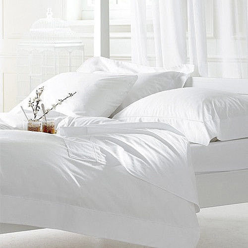 NEW Silk Comfort Polyester Satin Flat, Fitted, Pillowcase Sheet Set Full WHITE