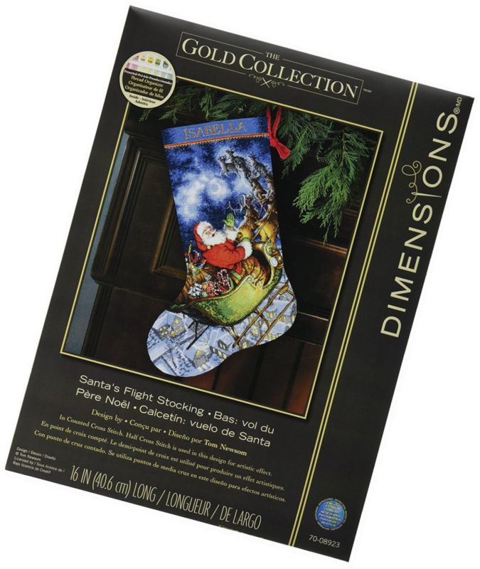Dimensions Crafts Needlecrafts Gold Collection Counted Cross Stitch Stocking Kit