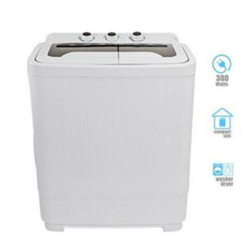 Compact Washer and Spinner Dryer Portable Automatic Laundry Apartment Combo New