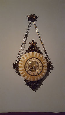 ANTIQUE FRENCH PORCELAIN 8 -DAY WALL CLOCK