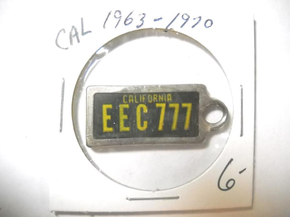LICENSE PLATE DAV  CALIFORNIA  1963-1970 NO LABEL  EEC777 #322