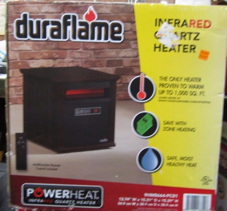 Duraflame Infrared Quartz Power Heater W/Remote