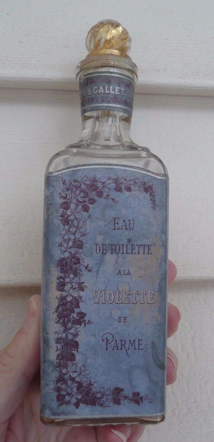 Vintage Maison Roger & Gallet Empty Perfume Bottle  ***VERY PRETTY & CLEAN***