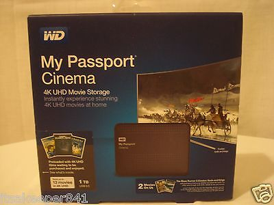 Western Digital My Passport Cinema 1TB - Classic Black Sealed