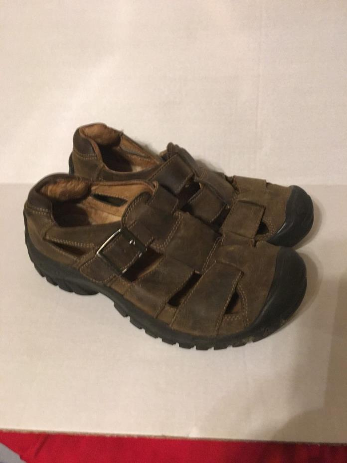 KEEN MEN'S BROWN LEATHER SANDALS SZ 8 EU 40.5