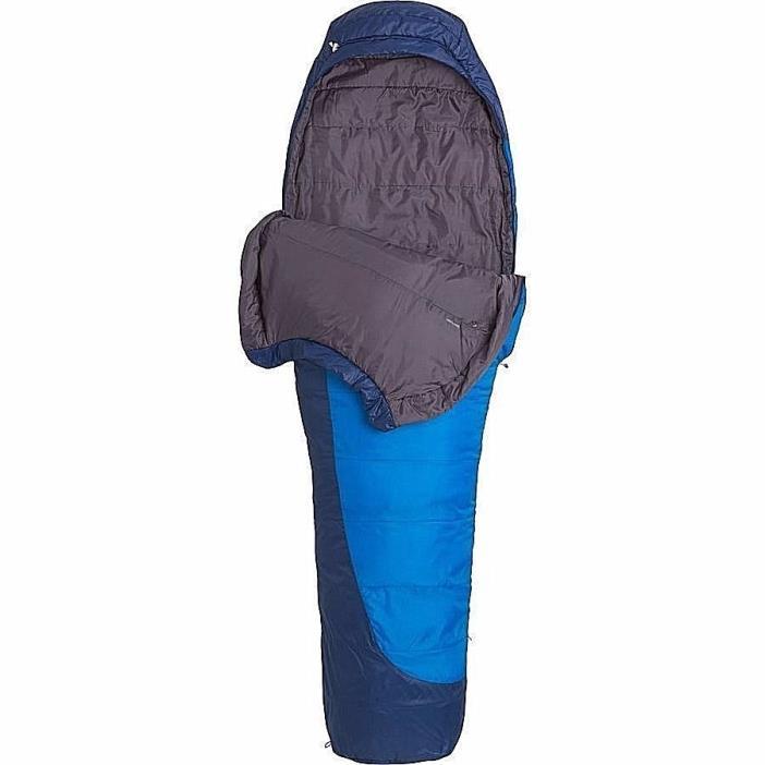New Marmot Trestles 15 Degree Sleeping Bag Cobalt Blue/Deep Blue Long X Wide
