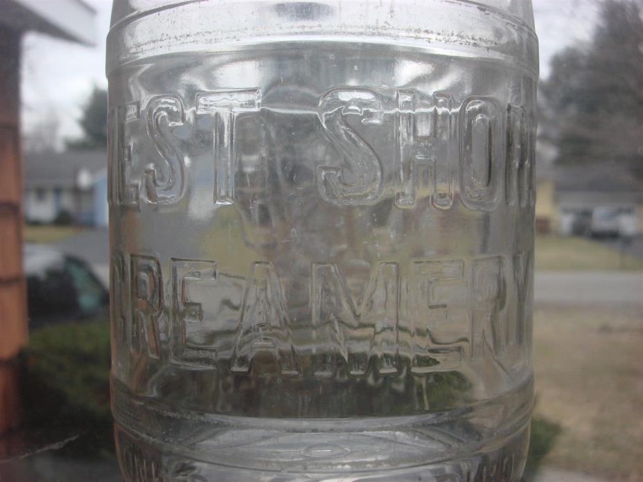 TREQ Milk Bottle West Shore Creamery Co Dairy Harrisburg PA 1929 VERY OLD & RARE