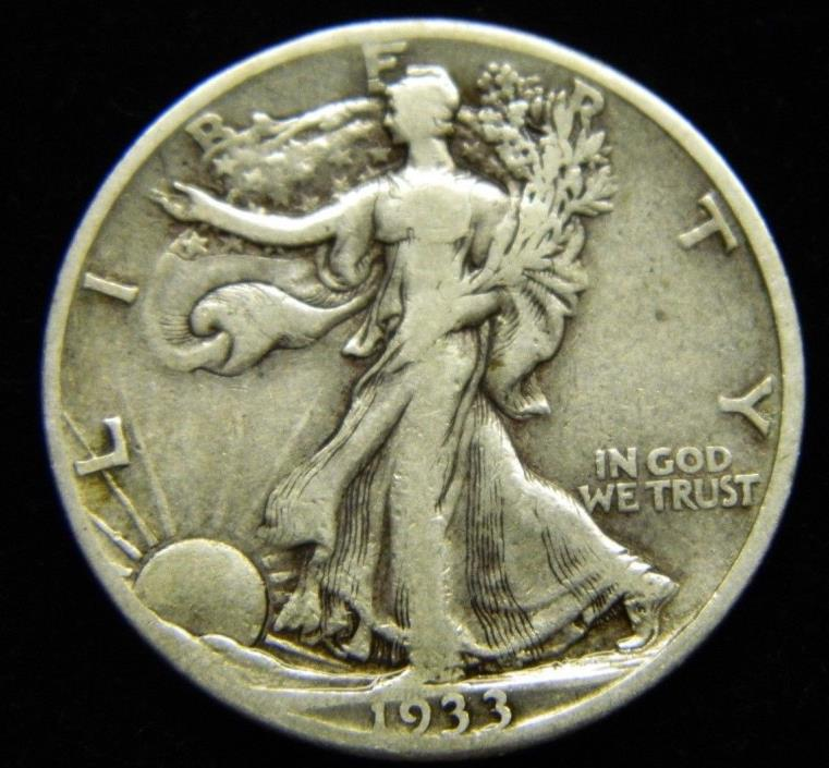 1933 S Liberty Walking Half Dollar